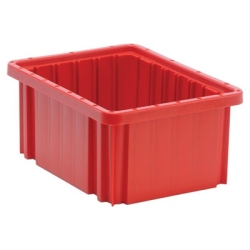 "10-7/8""L x 8-1/4""W x 5""H Red Dividable Grid Container"