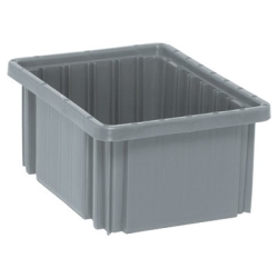 "10-7/8""L x 8-1/4""W x 5""H Gray Dividable Grid Container"
