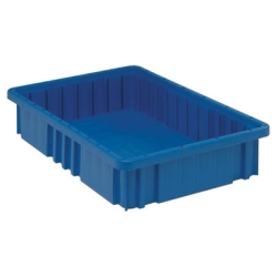 "16-1/2""L x 10-7/8""W x 3-1/2""H Blue Dividable Grid Container"