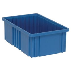 "16-1/2""L x 10-7/8""W x 6""H Blue Dividable Grid Container"
