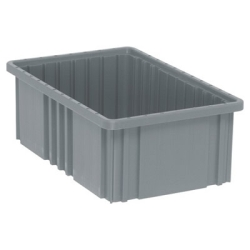 "16-1/2""L x 10-7/8""W x 6""H Gray Dividable Grid Container"