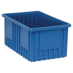 "16-1/2""L x 10-7/8""W x 8""H Blue Dividable Grid Container"