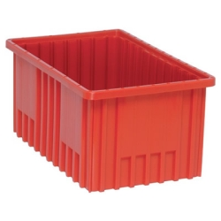 "Red Dividable Grid Container - 16-1/2"" L x 10-7/8"" W x 8"" Hgt."