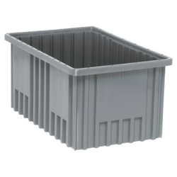 "16-1/2""L x 10-7/8""W x 8""H Gray Dividable Grid Container"