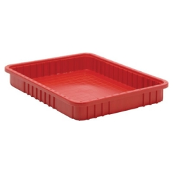 "Red Dividable Grid Container - 22-1/2"" L x 17-1/2"" W x 3"" Hgt."