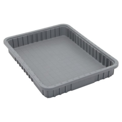 "Gray Dividable Grid Container - 22-1/2"" L x 17-1/2"" W x 3"" Hgt."