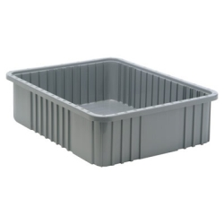 "22-1/2""L x 17-1/2""W x 6""H Gray Dividable Grid Container"