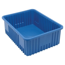 "22-1/2""L x 17-1/2""W x 8""H Blue Dividable Grid Container"