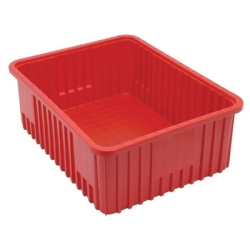 "22-1/2""L x 17-1/2""W x 8""H Red Dividable Grid Container"