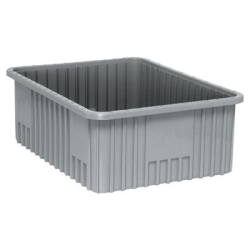 "Gray Dividable Grid Container - 22-1/2"" L x 17-1/2"" W x 8"" Hgt."