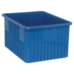 "22-1/2""L x 17-1/2""W x 12""H Blue Dividable Grid Container"