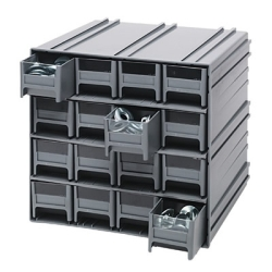 Interlocking Storage Cabinet w/16 IDR 201 Drawers