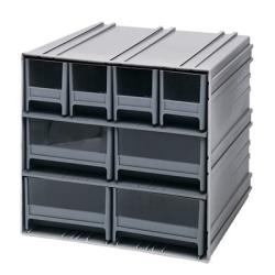 Interlocking Storage Cabinet w/4 IDR 202 & 4 IDR 204 Drawers