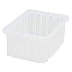 "10-7/8""L x 8-1/4""W x 5""H Clear Dividable Grid Container"