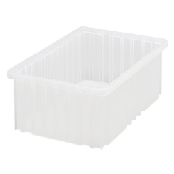 "16-1/2""L x 10-7/8""W x 6""H Clear Dividable Grid Container"