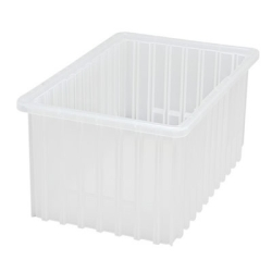 "16-1/2""L x 10-7/8""W x 8""H Clear Dividable Grid Container"
