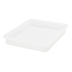 "Clear Dividable Grid Container - 22-1/2"" L x 17-1/2"" W x 3"" Hgt."