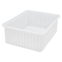 "Clear Dividable Grid Container - 22-1/2"" L x 17-1/2"" W x 8"" Hgt."