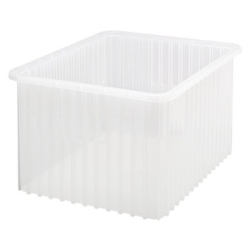 "22-1/2""L x 17-1/2""W x 12""H Clear Dividable Grid Container"