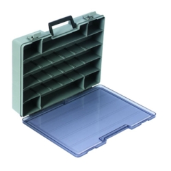 "Satchel-Style Case 9-24 Compartments 15-1/2"" L x 11-3/4"" W x 2-1/2"" Hgt."