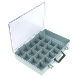 "Satchel-Style Case 21 Compartments 18-1/2"" L x 13"" W x 3"" Hgt."