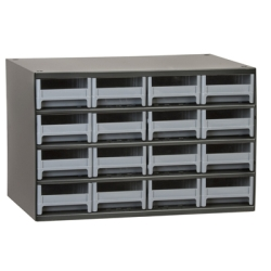 "Akro-Mils® Steel Frame Parts Cabinet with 16 Drawers - 4"" W x 2-1/8"" H x 10-9/16"" D"