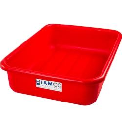 """20-3/4"""" L x 15-1/2"""" W x 5-1/4"""" H Red Polyethylene Tamco® Tote Pan"""