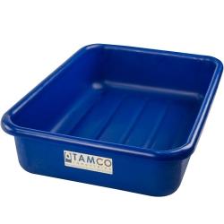 """20-3/4"""" L x 15-1/2"""" W x 5-1/4"""" H Blue Polyethylene Tamco® Tote Pan"""