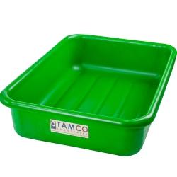 """20-3/4"""" L x 15-1/2"""" W x 5-1/4"""" H Green Polyethylene Tamco® Tote Pan"""