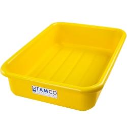 """20-3/4"""" L x 15-1/2"""" W x 5-1/4"""" H Yellow Polyethylene Tamco® Tote Pan"""