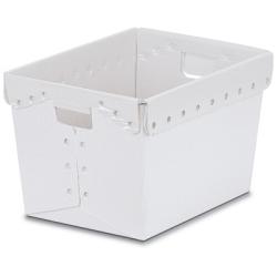"Natural Corrugated Plastic Nesting Tote - 18-1/4""L x 12-3/4""H x 11-1/2""H"