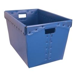 "Blue Corrugated Plastic Nesting Tote - 18-1/4""L x 12-3/4""H x 11-1/2""H"