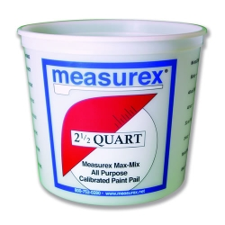 2.5 Quart(80 oz.) Polypropylene Measurex ® Pail