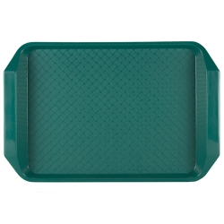 "Green 15"" L x 10"" W Comfort Grip Tray"