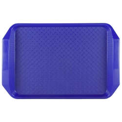 "Blue 17"" L x 12"" W Comfort Grip Tray"