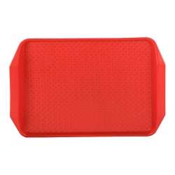 "Red 19"" L x 14"" W Comfort Grip Tray"