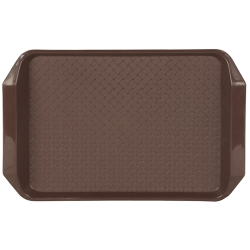 "Brown 17"" L x 12"" W Comfort Grip Tray"