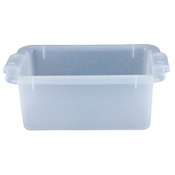"12-1/2"" L x 8-1/2"" W x 4-1/2"" H Clear Storage Box"