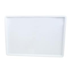 White Polypropylene Flat Bottom Tray - 17-3/4