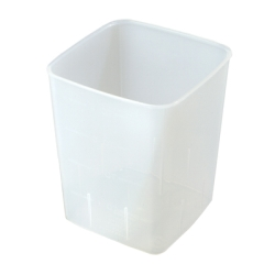 "4 Quart PP Space-Saver Storage Container - 6-1/2"" L x 6-1/2"" W x 8"" H"