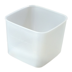 "6 Quart PP Space-Saver Storage Container - 8-1/2"" L x 8-1/2"" W x 7"" H"