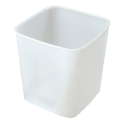 "8 Quart PP Space-Saver Storage Container - 8-1/2"" L x 8-1/2"" W x 9"" H"