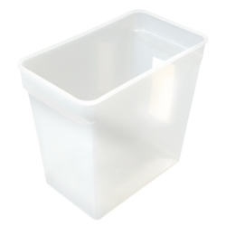 "18 Quart PP Space-Saver Storage Container - 14"" L x 8"" W x 12-3/4"" H"
