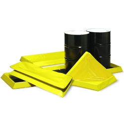 4-Drum In-line Spillpal™ with 7.5 Gallon Capacity - 2' L x 8' W x 3