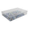 "K-Series™ Styrene 1 Compartment Box - 13-1/8"" L x 9"" W x 2-5/16"" Hgt."