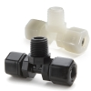 Parker Compression Male Branch Tee Tube to Male NPTF Fittings