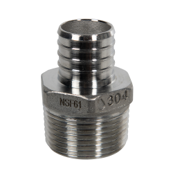 "1"" PEX x 1"" MNPT Stainless Steel Male Adapter"
