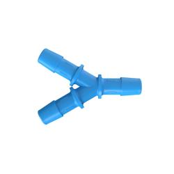 "3/8"" Hose Barb Eldon James™ Antimicrobial HDPE Y Connector"