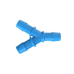 "1/2"" Hose Barb Eldon James™ Antimicrobial HDPE Y Connector"