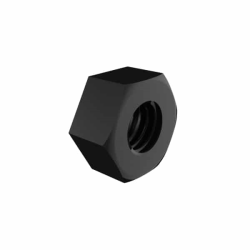 Black Nylon Hex Nut for Panel Mount Adapters